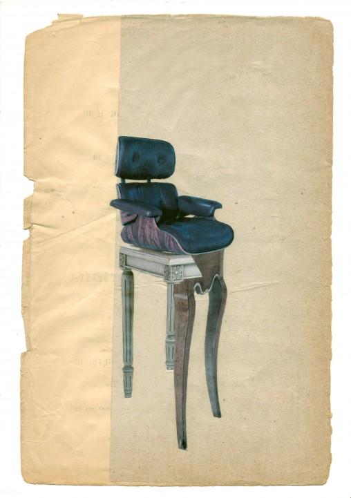 """collage """"Assises fantasmées"""" , création d'une série de collages réalisés par Marie Cocquerelle - On Est Bien Assis Là"""