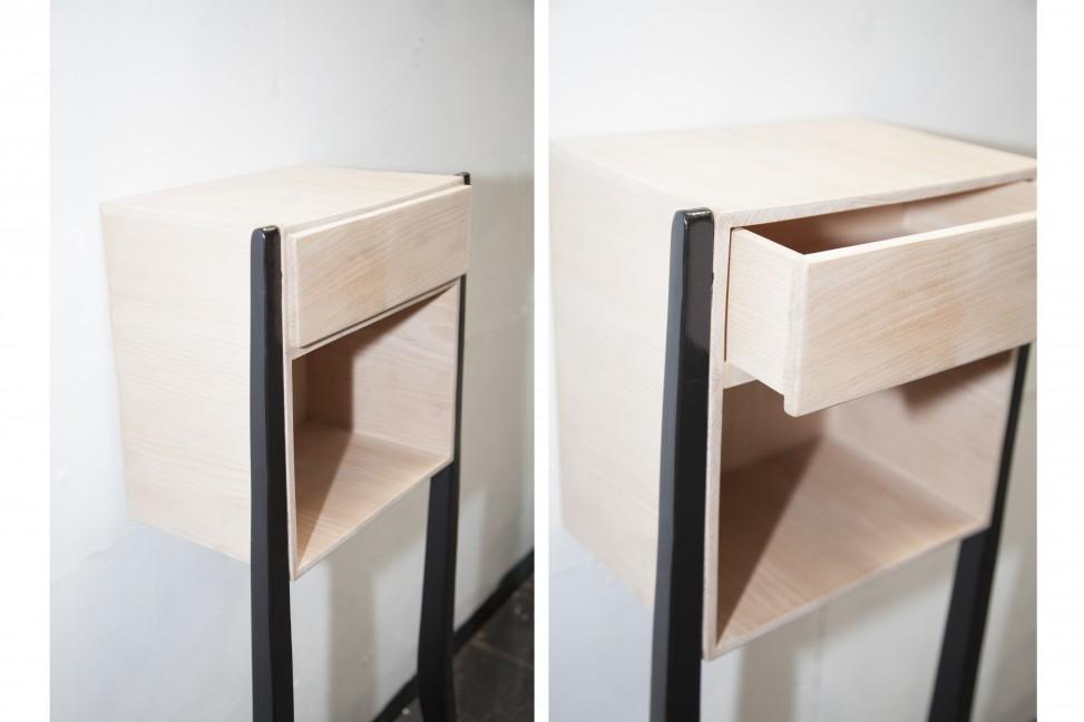 Création de 2 chevets en hêtre inspirés par le piétement d'une chaise.
