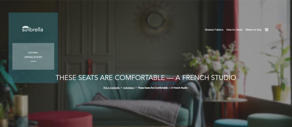 These Seats Are Comfortable A French Studio Sunbrella